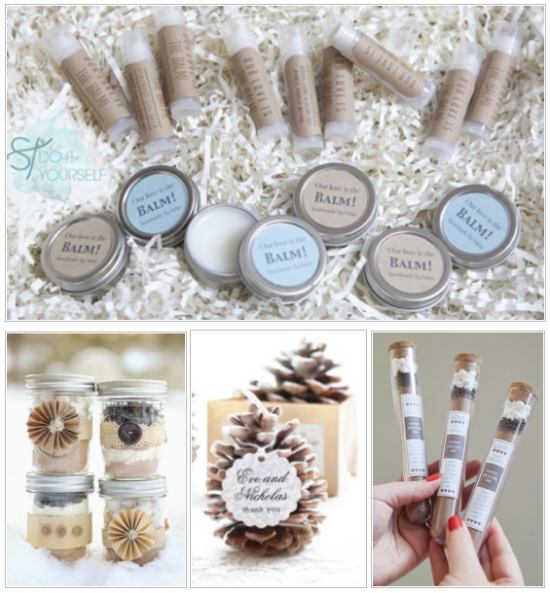Winter DIY Wedding Favors